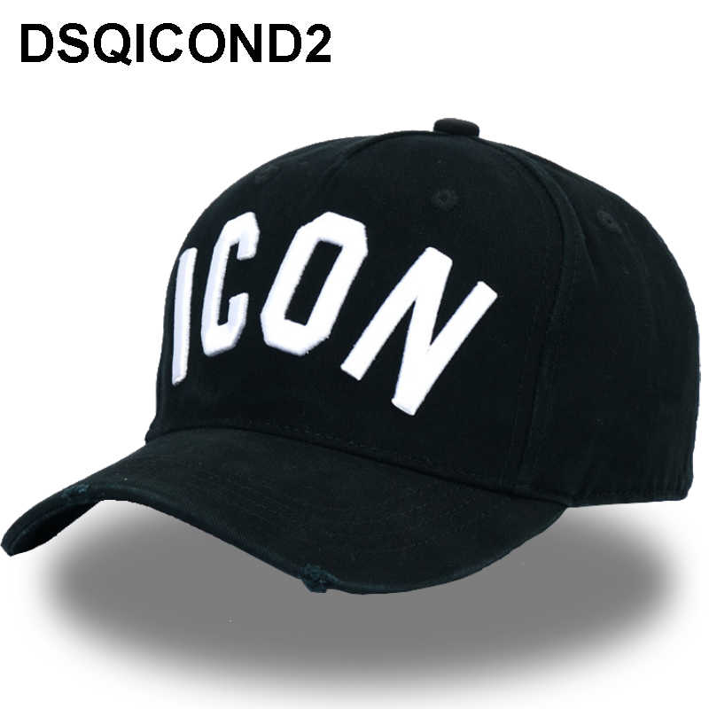 67cab60261f DSQICOND2 Wholesale Cotton Baseball Caps DSQ Letters High Quality Cap Men  Women Customer Design ICON Logo