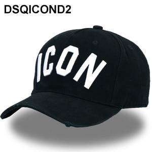 DSQICOND2 Wholesale Cotton Baseball Caps ICON Logo DSQ Letters High Quality Cap Men Women Customer Design Hat Black Cap Dad Hats(China)