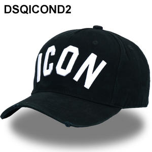 DSQICOND2 Cotton Baseball Caps Letters Black Dad Hats 3f8f389d248c