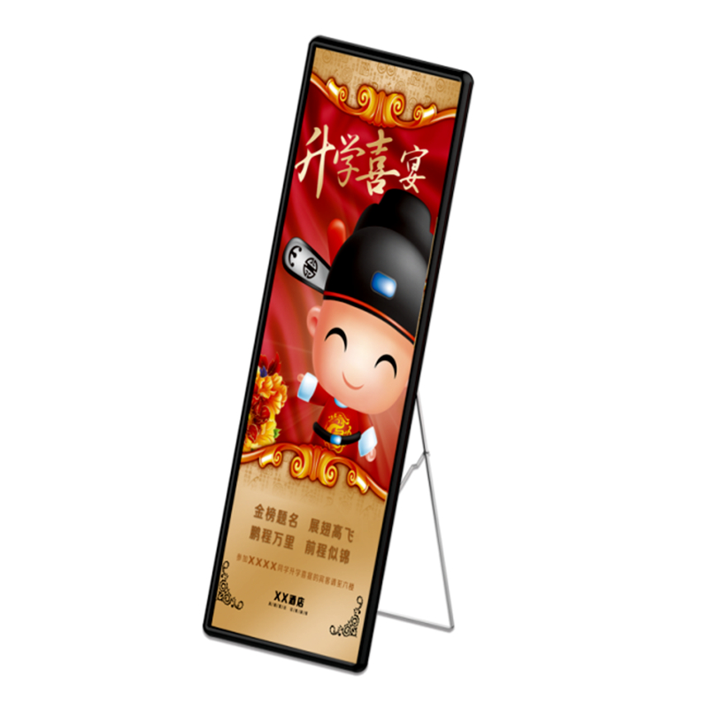 P3 Indoor RGB Poster Display Full Color Vertical LED Signs Advertising Display LED Shop Window Light Border