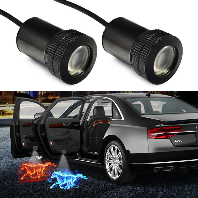 1PCS Wireless Led Car Door Welcome Laser Projector Logo Ghost Shadow Lights for LADA BMW Audi Volkswagen Honda Toyota Nissan Kia Ford