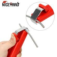 NICEYARD прочный мини электрик нож для зачистки проводов нож пластиковая рукоятка регулируемый ПВХ кабель зачистки нож 8-28 мм