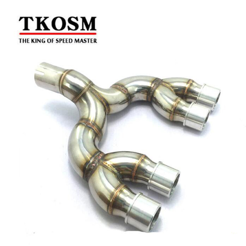 TKOSM Motorcycle Modified Exhaust Pipe for Dragon 600 Middle Section of the Connecting Pipe