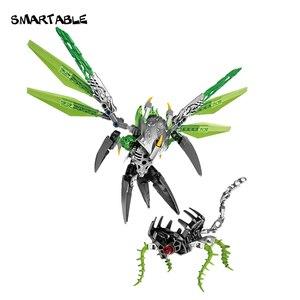 Image 3 - Smartable BIONICLE Uxar yaratık of orman + Lewa orman Keepter yapı taşı oyuncak seti çocuk için uyumlu tüm markalar 71300 + 71305