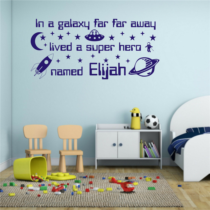 Wall Decal Cosmic Space Wall Sticker Star Star Wall Art Children's Room Boy Mural Sticker Art Decor Wall Sticker MY192