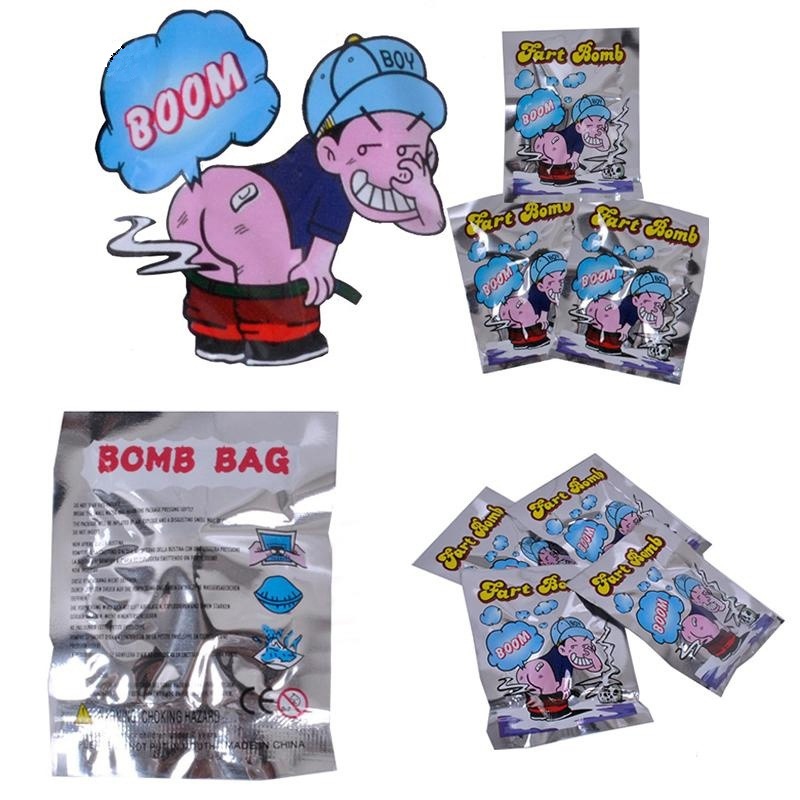 Novelty & Gag Toys 1pc Hot Selling Novelty Fart Bomb Bags Stink Bomb Smelly Funny Gags Practical Jokes Gadgets Toys April Fools Day Halloween Gift At All Costs Toys & Hobbies