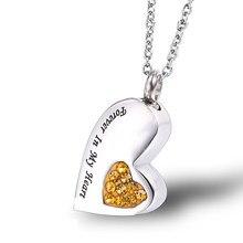 Урны для кошки пепел в форме сердца Мемориал животных урна ожерелье держатель кулон ожерелье на память похоронный Мемориал подарок ювелирные изделия