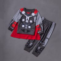 2017 New Thor Boys SuperHero Halloween Children Fancy Dress Kids Child Costume Cosplay With Cloak
