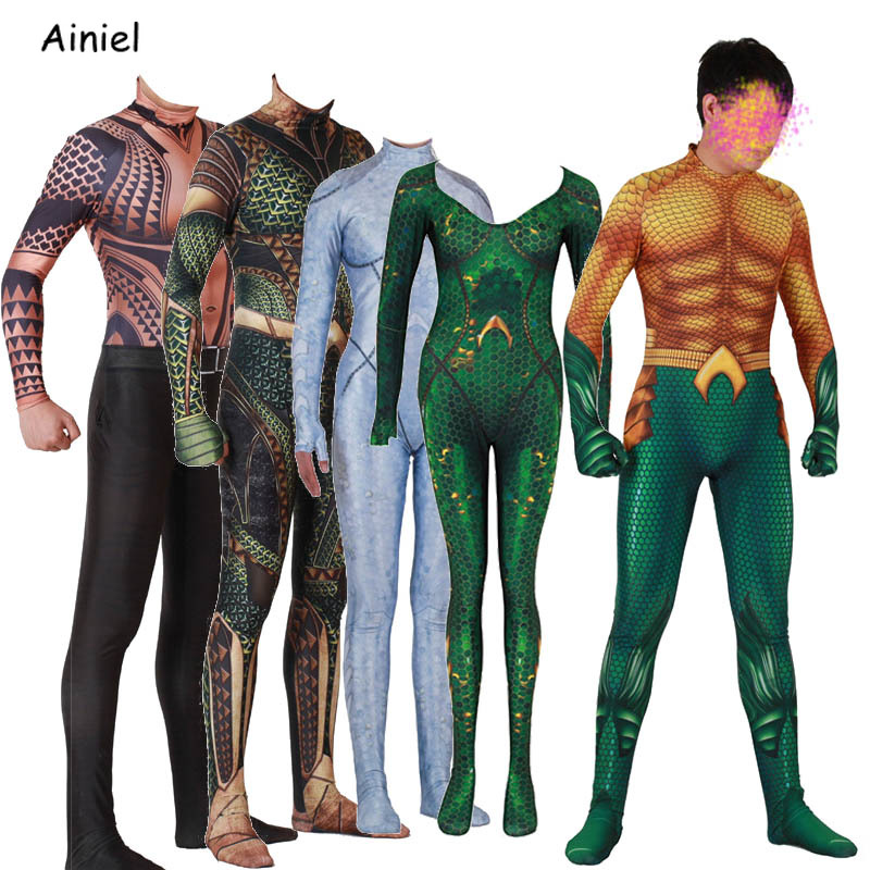 Justice League Aquaman Costume Arthur Curry Orin Cosplay Halloween Christmas New