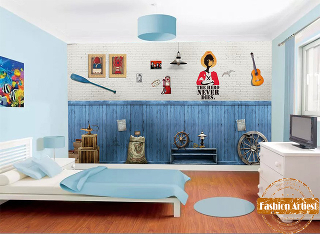 Letti Vintage Bambini : Personalizzato vintage pace bambini ragazzi wallpaper mural
