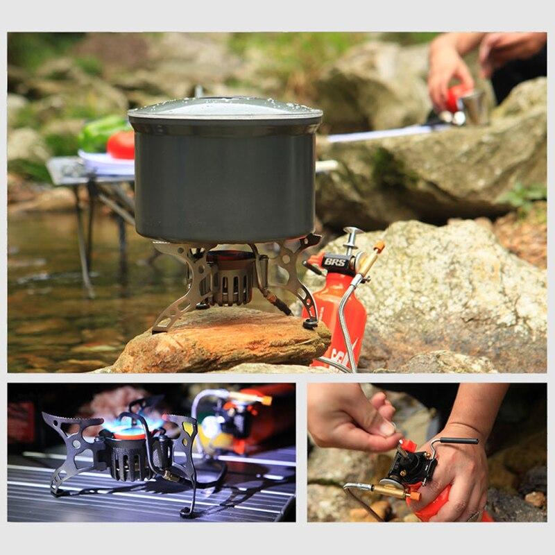 BRS 8A масло/Газ Многофункциональный кемпинг газовая плита для пикника дикий открытый приготовления портативный Сплит Кемпинг ветрозащитная газовая плита - 3