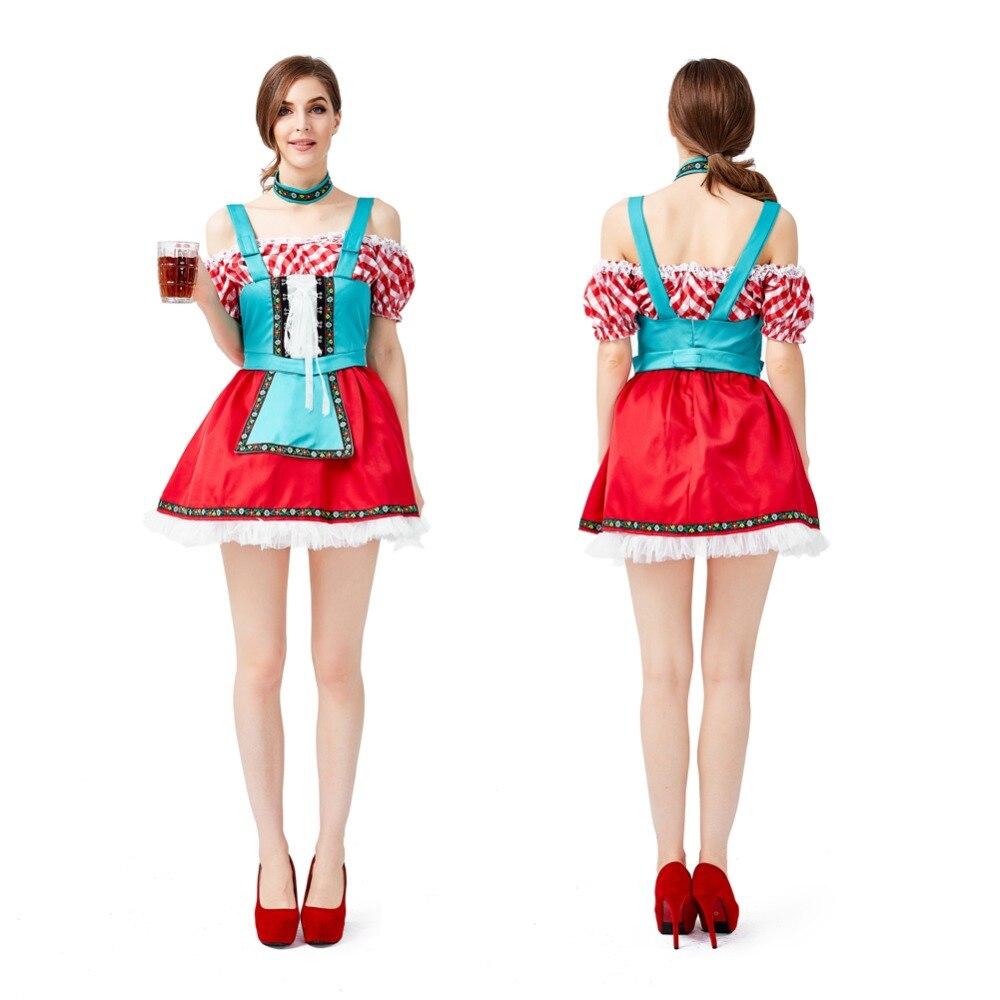 Women Men German Beer Maid Inflatable Costume Lady Blow Up Suit Halloween Dress