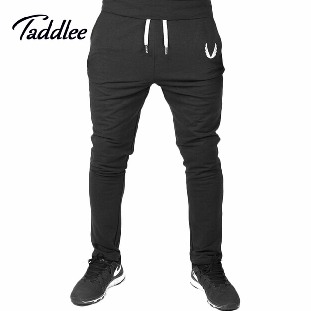 Taddlee Brand Men full Long Pants Cotton Men's Gasp Workout Fitness Pant Casual Sweatpants Jogger Skinny Trousers Hip Hop