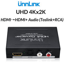 Unnlink HDMI Audio Extractor Converter Splitter HIFI 5.1ch SPDIF Optical Toslink RCA UHD4K for Chromecast Fire TV Stick Box Roku(China)