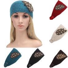 Женщины Вязание Оголовье Ручной Работы Согреться Hairband Повязка Автомобиль для укладки Аксессуары