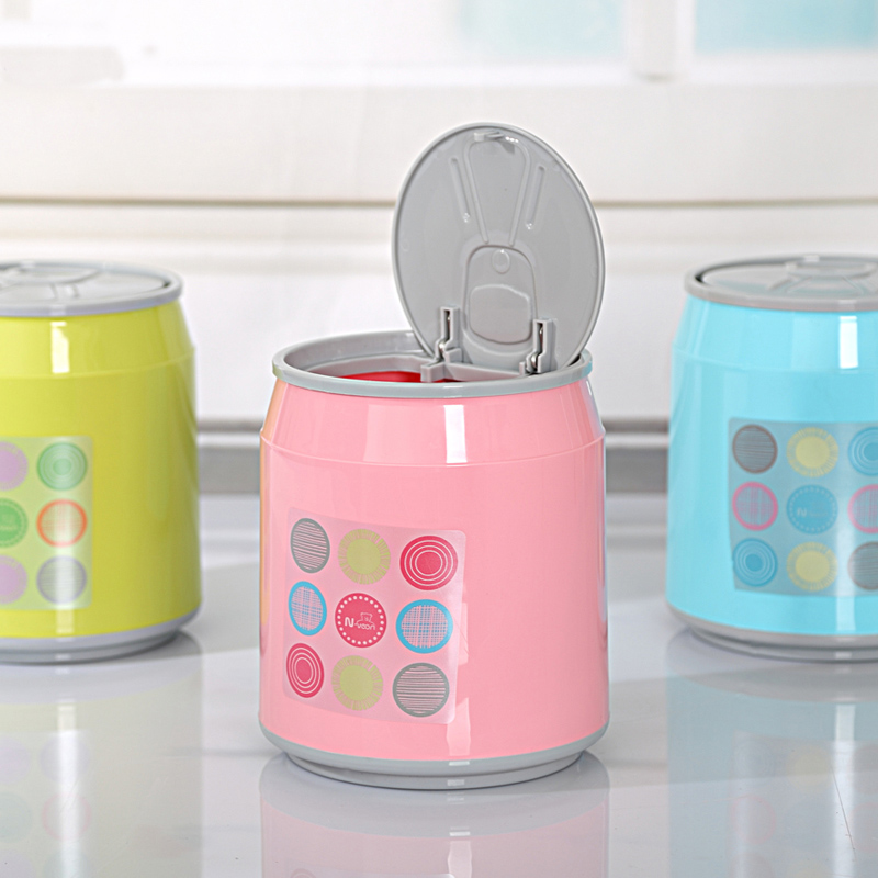 2016 Portable Plastic Dustbin Trash Cans Mini Table Waste Container Rubbish Bin Desk Organizer Kids Bedroom Creative Clean Box In Bins From Home