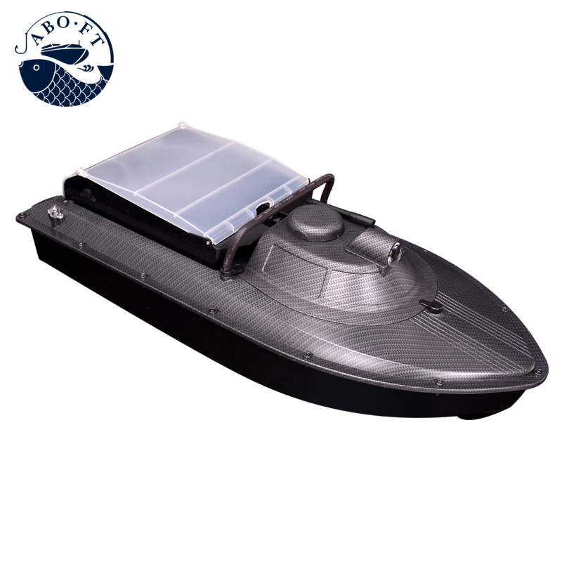 JABO-2AL factory  long sailing time carbon black releasing line bait boat free shipping factory price catamaran hull jabo 5a long distance two hoppers rc bait boat for releasing hook