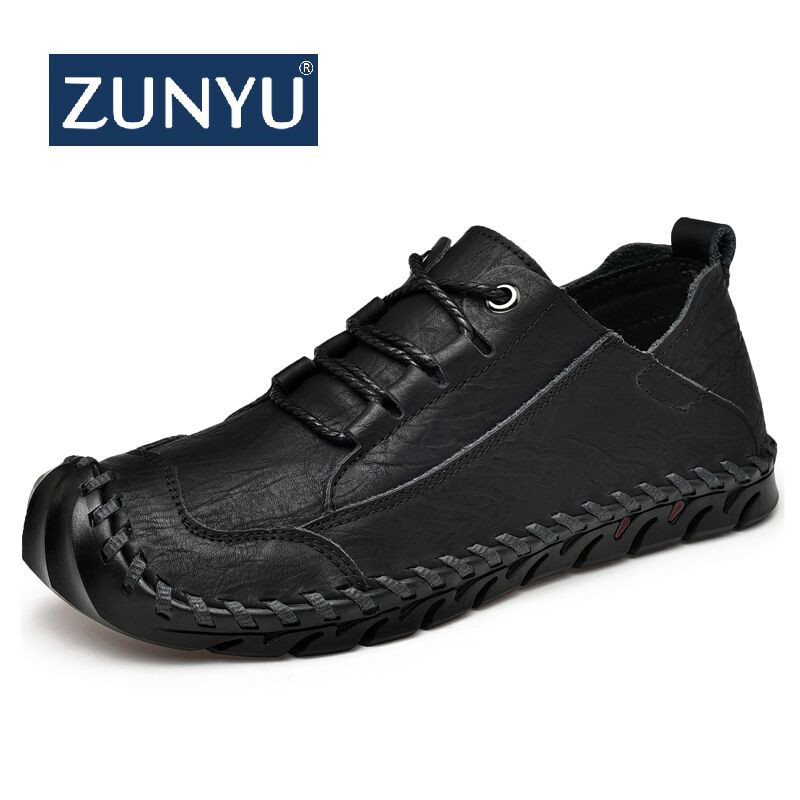 ZUNYU Men's   Leather   Casual Shoes Moccasins Men Loafers Spring New Fashion Sneakers Male Boat Shoes   Suede   Krasovki Size 38-45