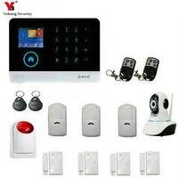 Yobangбезопасности Wifi gsm сигнализация беспроводная домашняя охранная система с наружной мигающей сирены IP камера Авто номеронатор