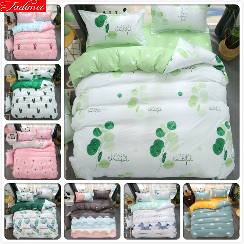 Partysu Simple Style Duvet Cover 3/4 pcs Bedding Set Adult Kids Child Soft Cotton Bed Linens Single Full Double Queen King SizePartysu Simple Style Duvet Cover 3/4 pcs Bedding Set Adult Kids Child Soft Cotton Bed Linens Single Full Double Queen King Size