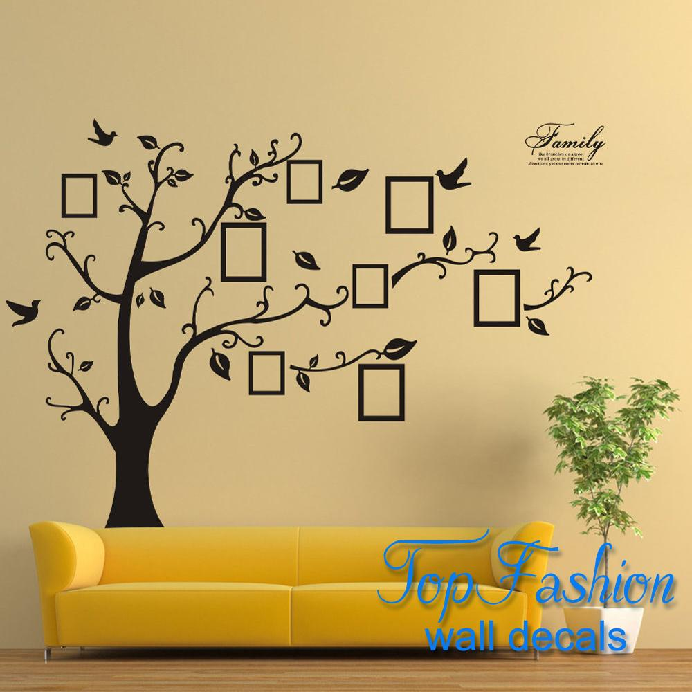 Large Photo Frame Family Tree Removable 3D Wall Stickers Art Decal ...