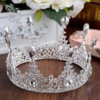 エレガンス花嫁クリスタルヘアアクセサリー結婚式のティアラと王冠ブライ