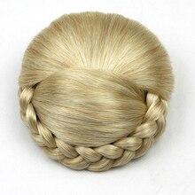 Soowee 6 Цвета Высокая Температура Волокна Синтетические Волосы Плетеные Шиньон Зажим В Волосах Бун Женщин Donut Ролика Волос Кусок