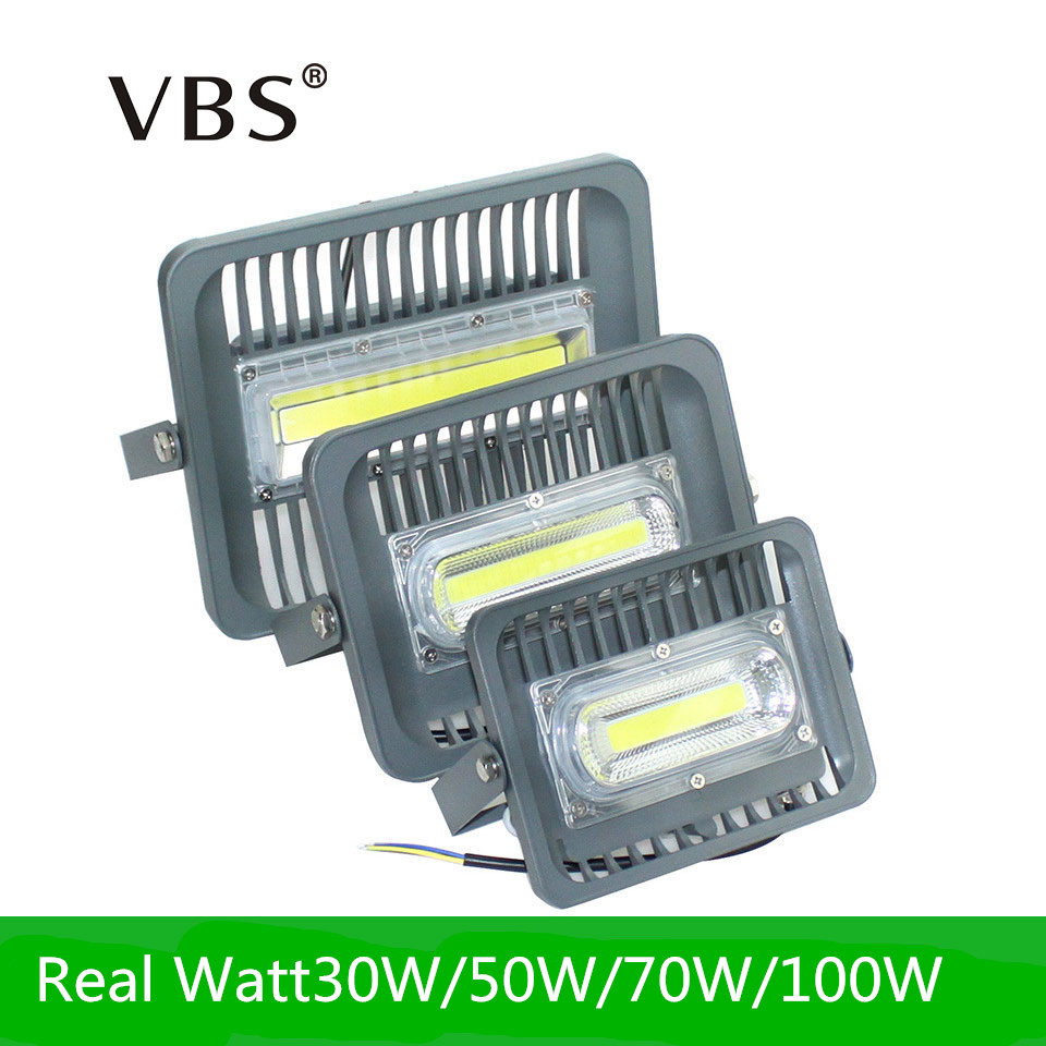 2017 New LED Flood Light 30W 50W 70W 100W LED Outdoor Lighting AC85-265V IP66 Waterproof LED Floodlight Reflector LED COB Chip driverless reflector ultrathin led flood light 20w 30w 50w 100w ac85 265v waterproof ip65 floodlight spotlight outdoor lighting