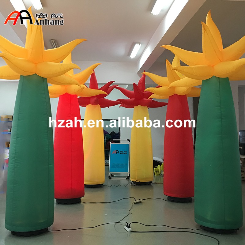 Anhang LED Inflatable Palm Tree Inflatable Pillar for Party beauty inflatable lighting tree