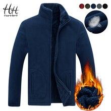 HanHent стенд воротник толстый Модный свитшот куртки для мужчин зима 2018 флисовый кардиган толстовки теплые мужская одежда Повседневная Улица