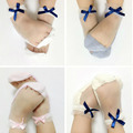2017 New Fashion Summer Krystal Bow Cotton Soft Transparent Baby Girl Socks Hand Sewing Socks For Kids aTRQ0368