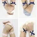 2017 Nueva Moda de Verano Krystal Arco Bebé Niña Calcetines de Algodón Suave Transparente Mano Coser Calcetines Para Niños aTRQ0368