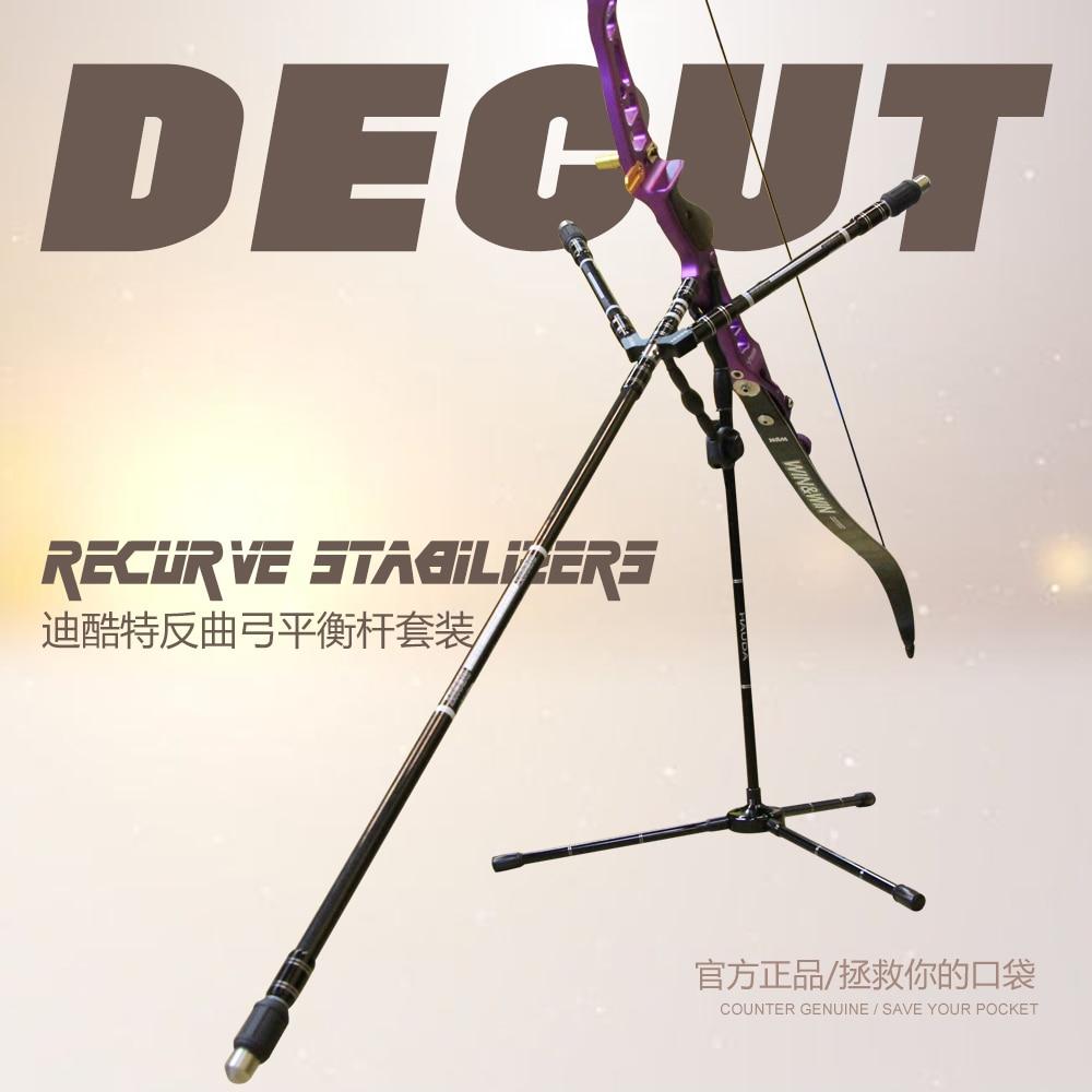 Decut стабилизатора 30 углеродное волокно изогнутый лук съемки стабилизатор с амортизаторы и extender стрельба из лука аксессуар