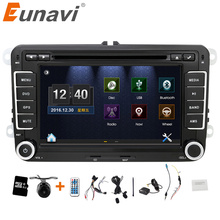"Eunavi 2 Din Car DVD Radio 7"" HD For VW POLO GTI GOLF 5 6 MK5 MK6 JETTA PASSAT B6 Touran Sharan With GPS Navigation Radio RDS"
