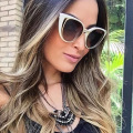 2016 The New Fashion Cat Eye Sunglasses Women Brand Designer Retro Pierced Female Sun Glasses Oculos de Sol Feminino UV400