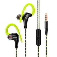 Original Authentic QKZ Sports Ear-hook Headphones Heavy Bass In-ear Earphone 3.5 Universal Headphone with mic Stereo Auriculares qkz x5 earphone 100