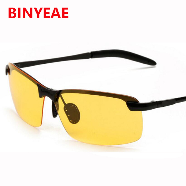 Vison noite Óculos Polarizados dos homens de Condução óculos de Sol sem aro  de Vidro Polaroid 5a786d9715