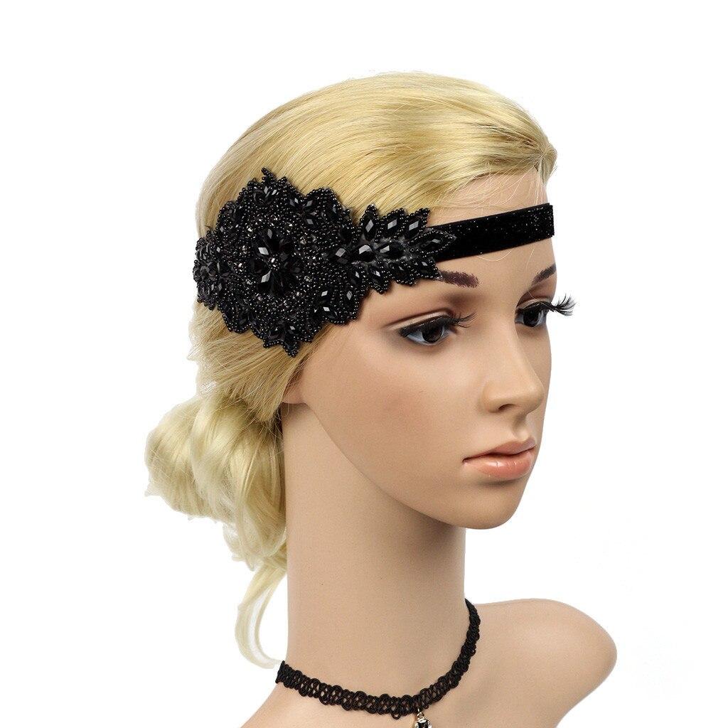 Hair accessories Hairband Flapper Great Gatsby Headband Pearl Charleston Party Bridal Headpiece Lady Hair Clips headpiece