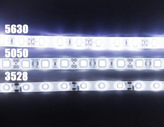 led strip 5050 5630 3528 dc 12v ip65 waterproof flexible light 5m 60 rh aliexpress com