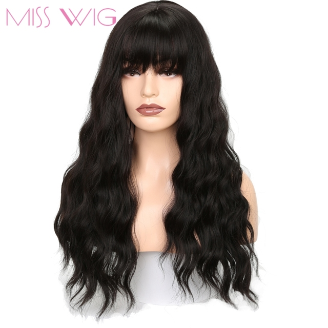 Miss Wig Long Wavy Wigs For Black Women African American Synthetic