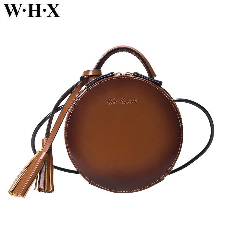 WHX Brand designer Round Women Tassel Bag Crossbody Bag Women Shoulder Bag Ladies Circular Women Messenger Bags ladies Handbags