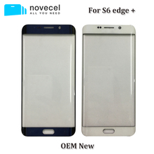 Novecel ori quality front touch glass lens for s6 edge plus s6edge+ LCD display outer panel screen replacement