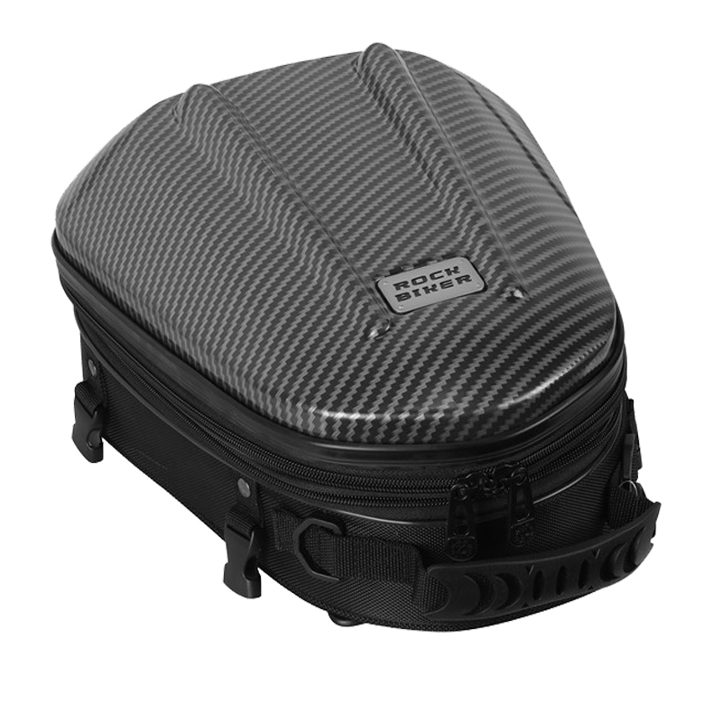 Carbon Fiber Hard Shell Motorcycle Back Seat Bags Waterproof Motocross Tail Luggage Motorcycle Trunk Backpack Durable Rear Bag