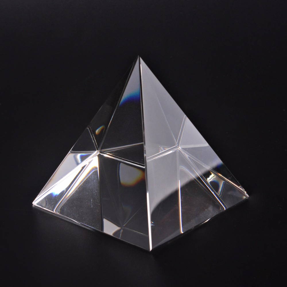 Energy Healing Small Feng Shui Egypt Glass Clear Pyramid