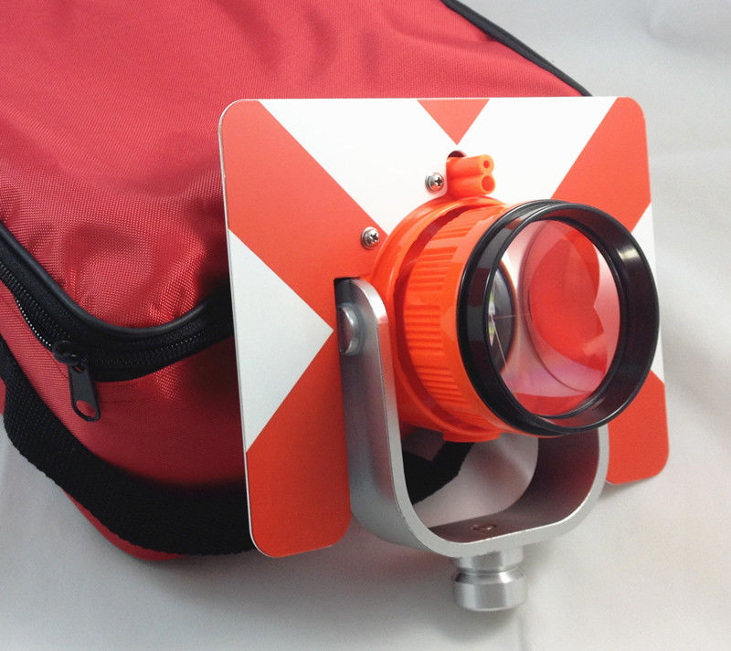 NEW RED Single Prism w Bag FOR total station