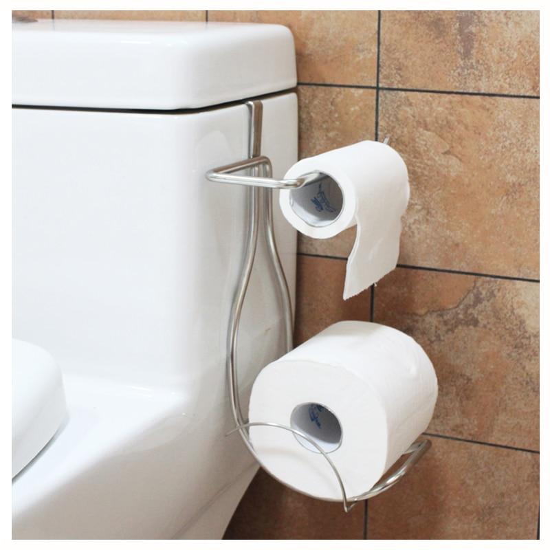 Stainless steel door back bathroom tissue holder paper towel tube bathroom toilet paper towel rack free punch rack LO5311034 toilet paper box stainless steel towel rack bathroom toilet paper holder tissue box waterproof