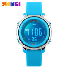 Skmei Children Fashion Digital Watch Colorful Backlight Waterproof Plastic Dial Silicone Strap 2016 New LED Watches все цены