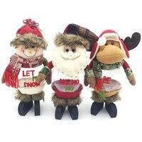 Fashionmove Рождество творческий подарок бутылку Полотенца хлопок Рождество дерево и Санта Клаус и снеговик