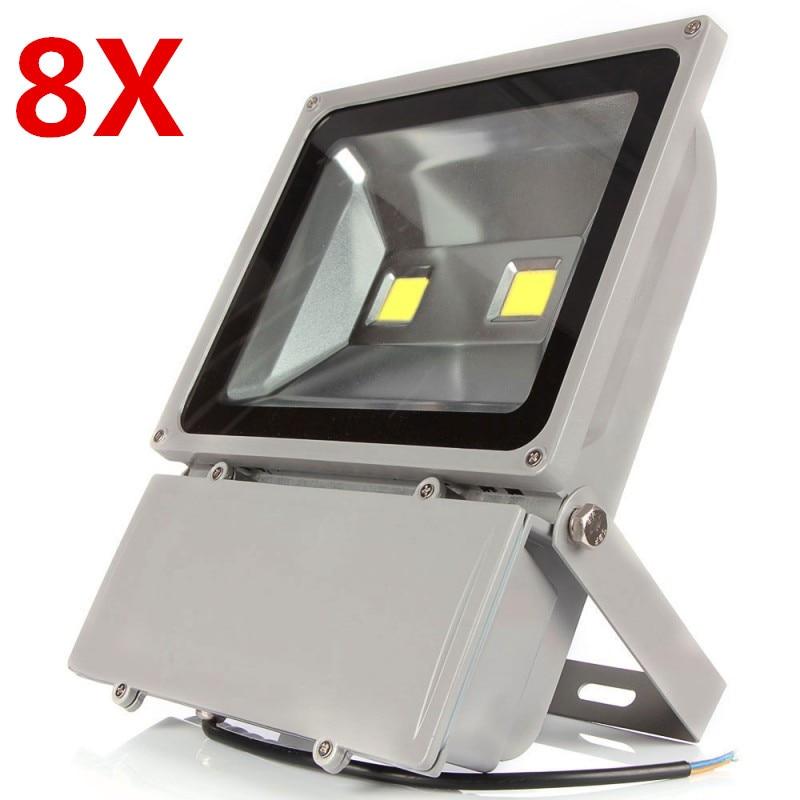 8X (Бесплатная DHL/FedEx) AC85V 265V 100 Вт наружные светодиодные прожекторные лампы Водонепроницаемые светодиодные прожекторы садовое наружное освещ