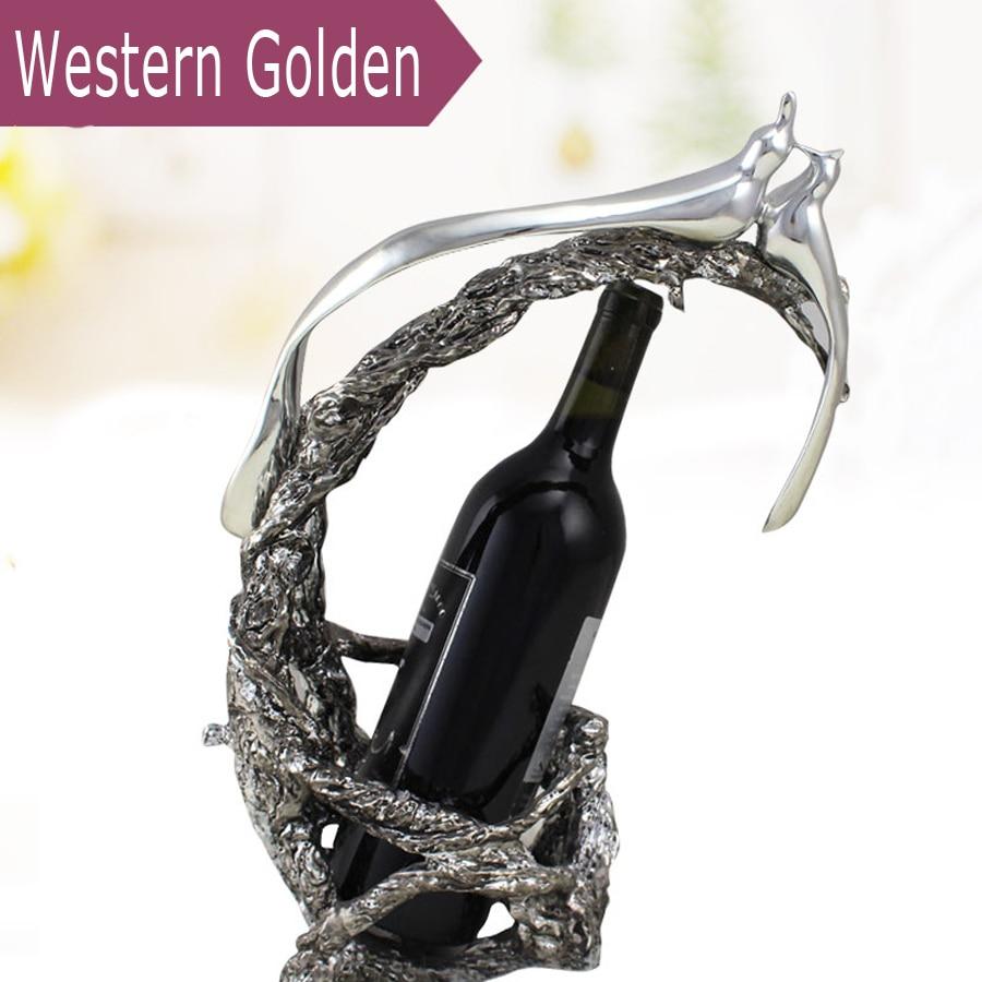 Creative high - quality resin wine racks KTV high - grade wine racks Continental home decorations wine cooler недорого